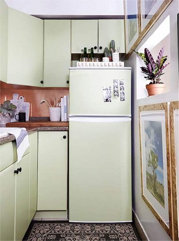 15 идей, как органично вписать холодильник в интерьер небольшой кухни