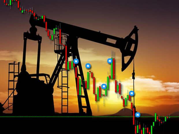 Снижение нефтяных котировок Brent и WTI ускорилось