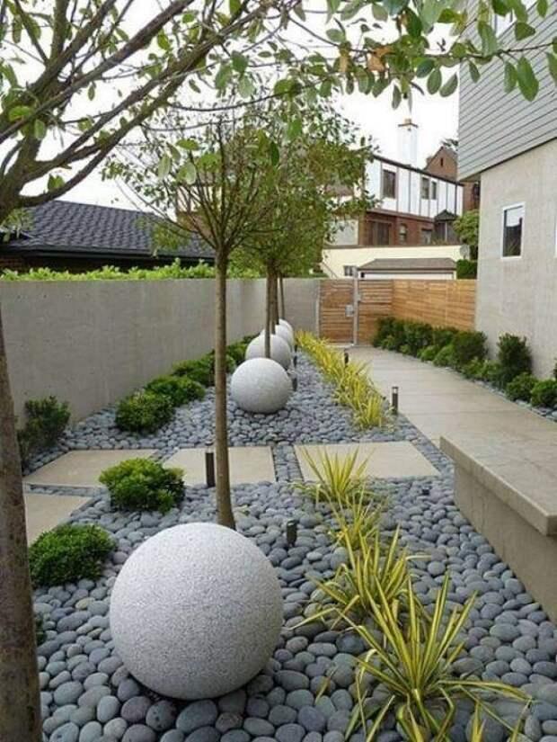 идеи дизайна частного двора