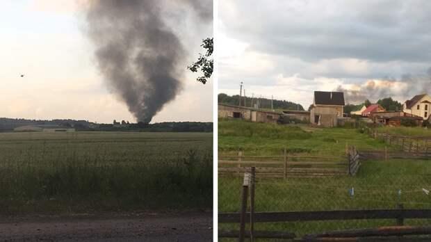 Вертолет Ми-8 рухнул в Ленобласти
