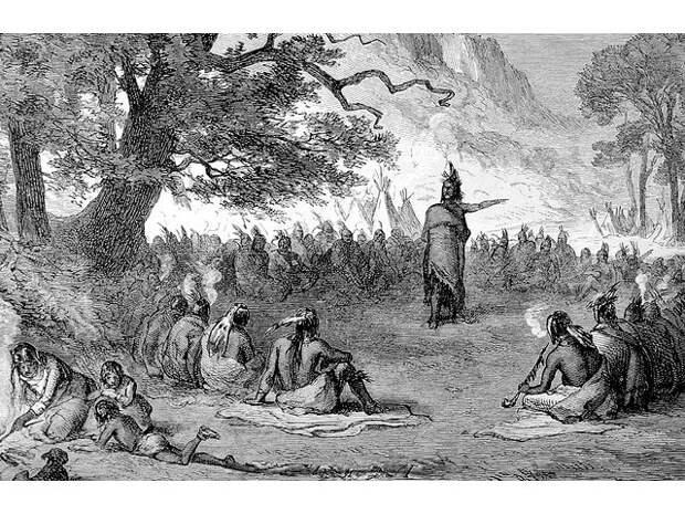 Каинова печать геноцида индейцев на англосаксонском либерализме