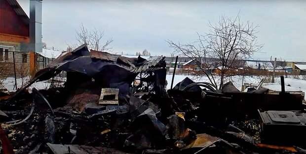 Дом Натальи Галеевой мгновенно вспыхнул и сгорел дотла
