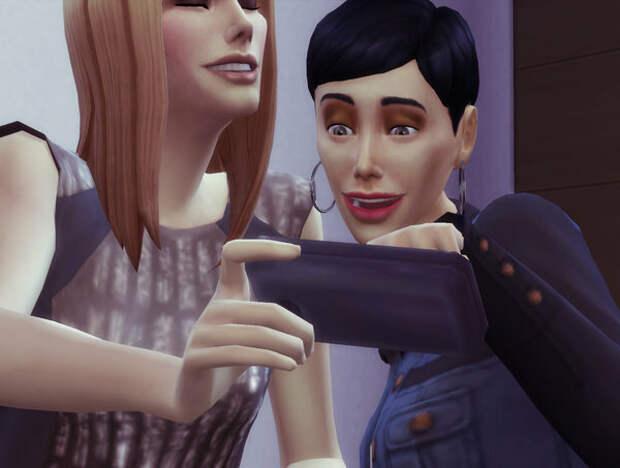 Картинка сделана мною в игре The Sims 4