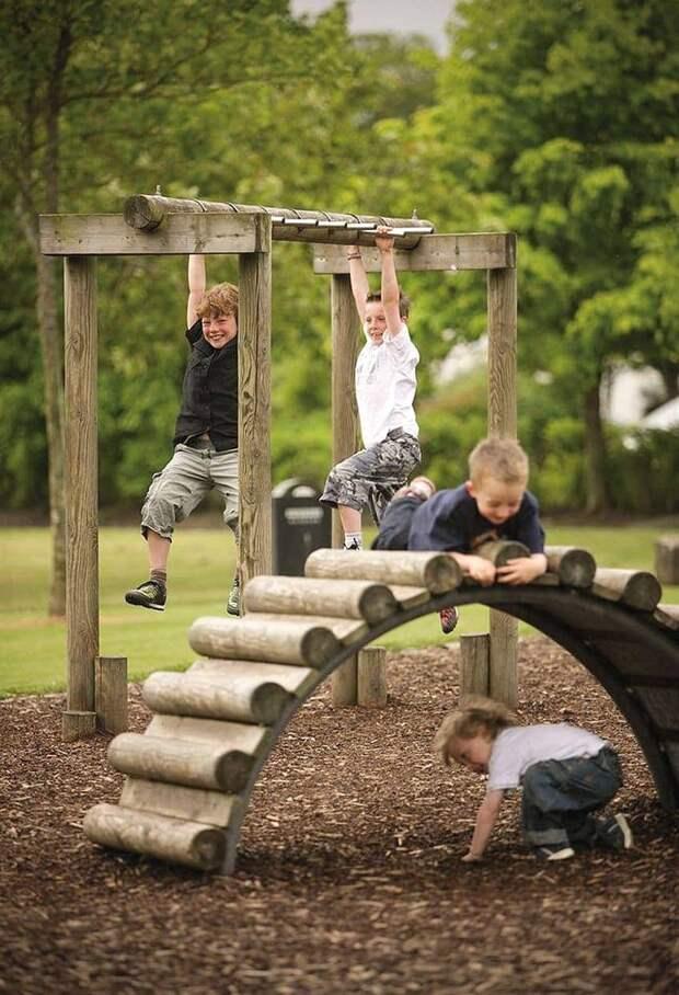 Крутые идеи детских площадок для вашего участка