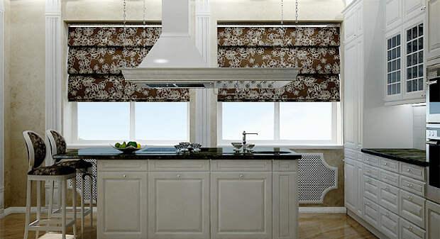 5 красивых идей оформления окна в кухне