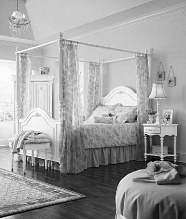 Оформление стен. Спальный интерьер. Альков