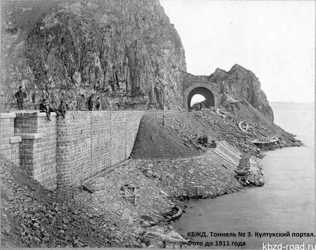 Тоннель №3 КБЖД, 1905 г. Источник https://kbzd-road.ru/kbzhd-v-fotografiyax-100-let-nazad-i-segodnya/