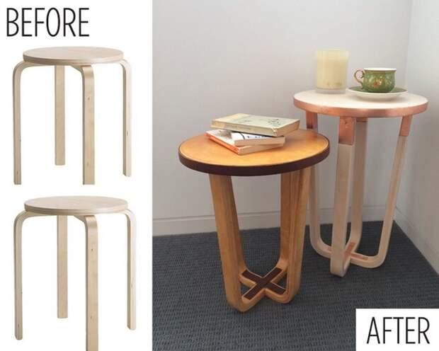 Столик из стула IKEA