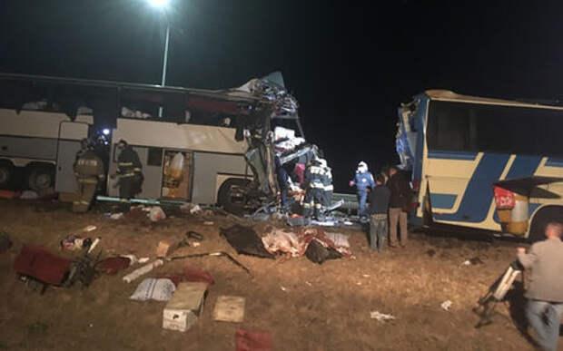 Страшная авария на трассе «Дон»: столкнулись два автобуса. Есть жертвы