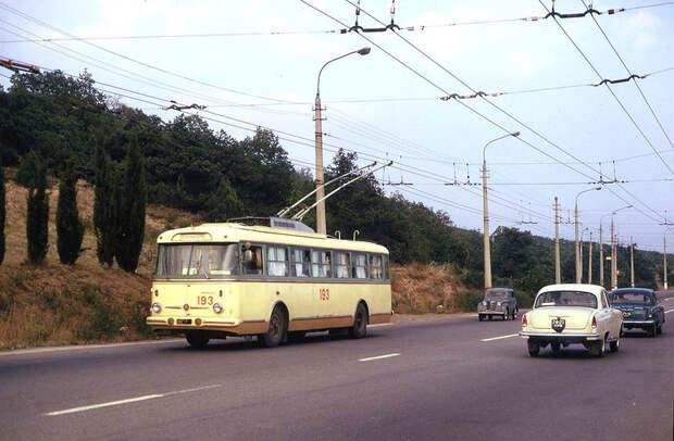 Путешествие на троллейбусе из Симферополя в Ялту в 1973году