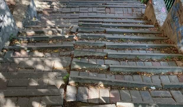 Нижегородцы попросили восстановить лестницу наЗвездинке
