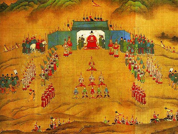 Неизвестный художник. Император Ваньли и его армия