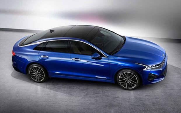 Первые фото новой Kia Optima: похоже на купе, но седан