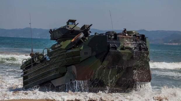 В США затонула машина-амфибия морской пехоты