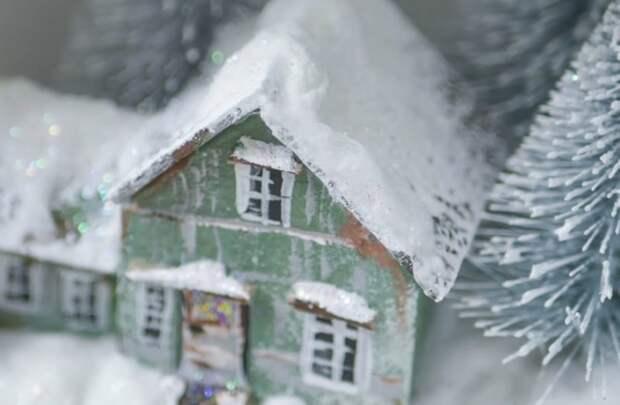 Зимняя сказка в елочной игрушке своими руками