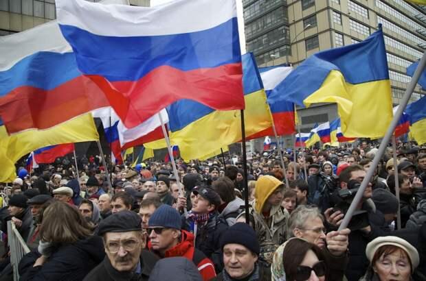 Даже фанаты бандеровцев просят объединения с Россией и Белоруссией