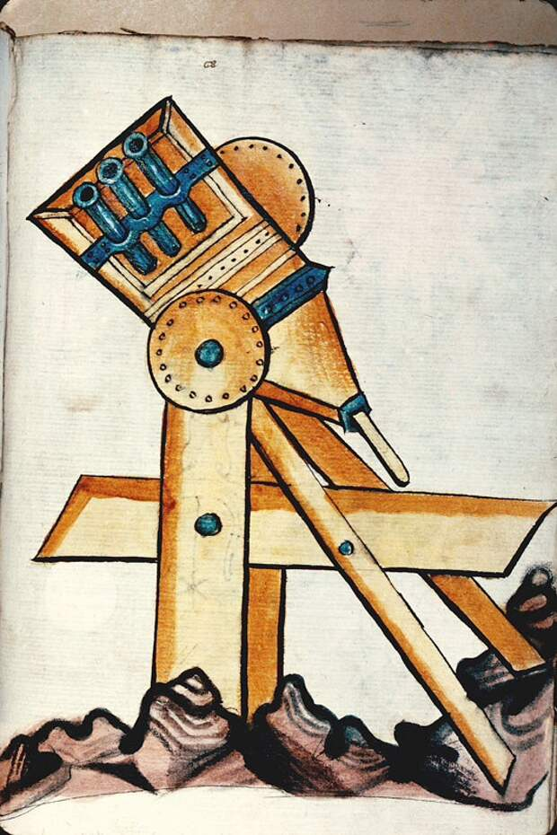 Иллюстрированное руководство по военной технике,начало 15-го века.