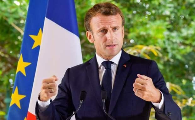 На фото: президент Франции Эмманюэль Макрон
