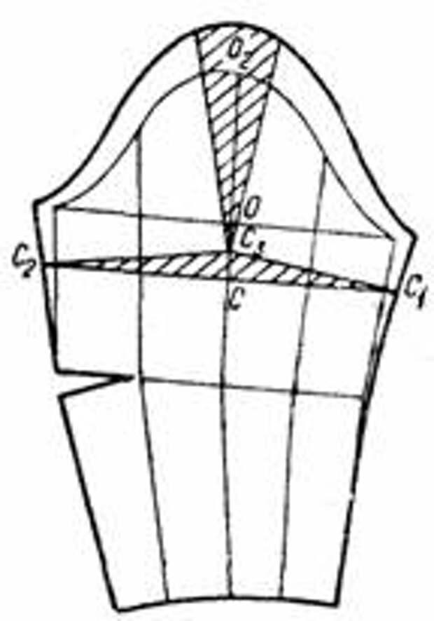 чертеж выкройки рукава с увеличенным объемом в верхней части со сборками по окату