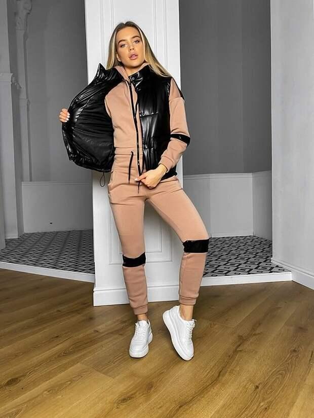 Дутый жилет – модная вещь в гардеробе каждой девушки
