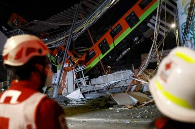 Число погибших при обрушении метромоста в Мехико выросло до 20