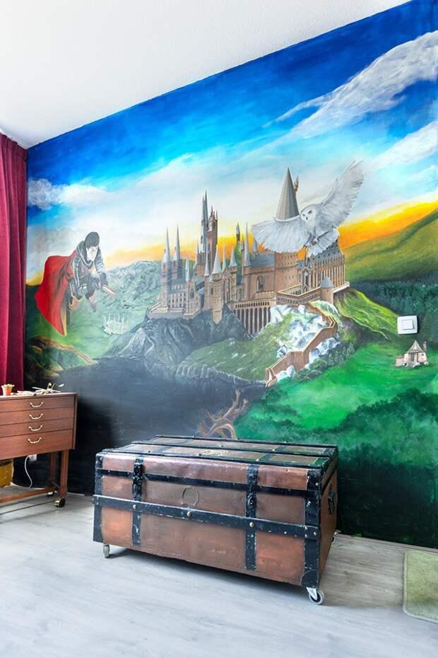 Комната девочки превратилась в Хогвартс. Фанаты «Гарри Поттера» хотят там жить