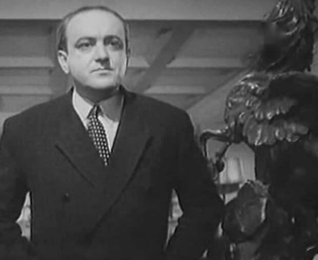 """Кадр из фильма """"Секретная миссия"""". Мосфильм, 1950."""