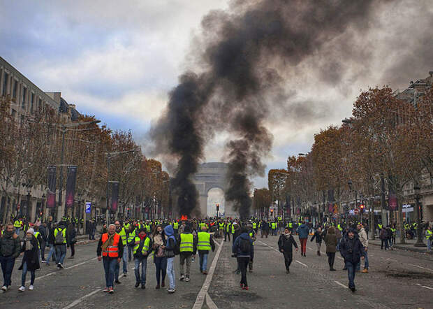 "Франция, ""желтые жилеты""(2018) Фото: GLOBAL LOOK press"