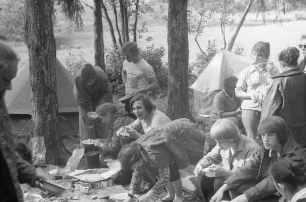 Школьный турпоход во времена СССР СССР, советский, турпоход