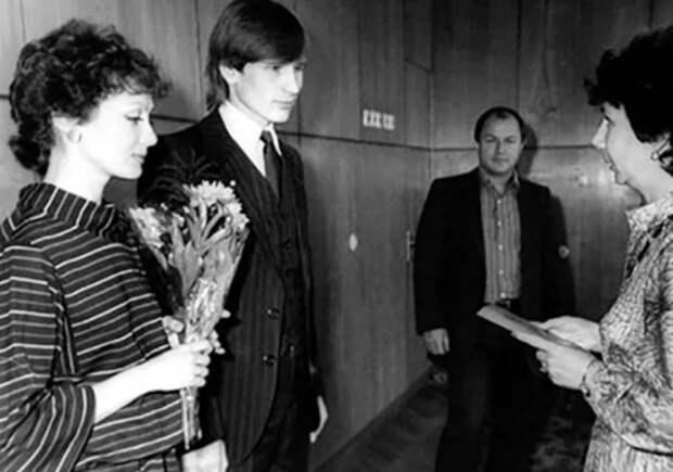 О.Зарубина с первым мужем Александром Малининым