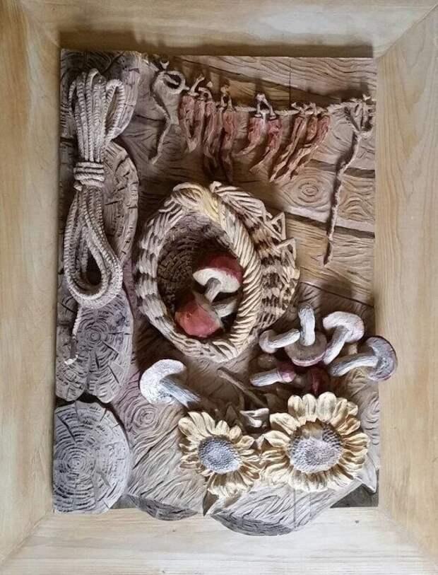 Резьба по дереву.  автор - Вячеслав Квитко