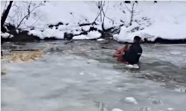 В Абинском районе мужчина провалился под лед и погиб