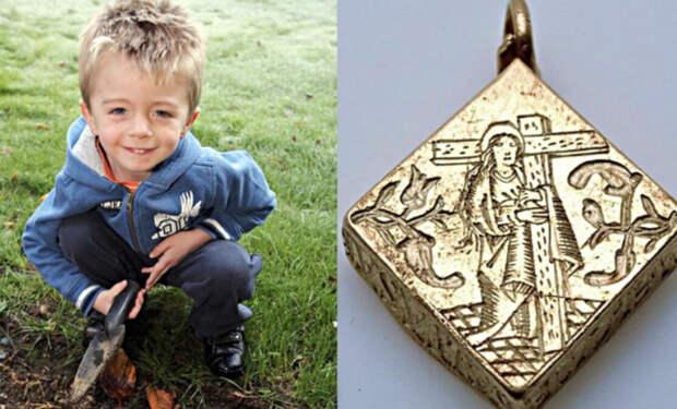 Школьник играл в поиск сокровищ и нашел золотой кулон за 3 миллиона долларов