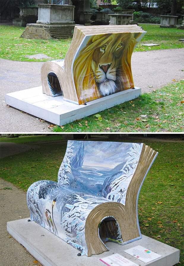 Самые необычные скамейки со всего мира