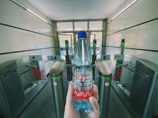 На станции МЦК «Лихоборы» началась раздача питьевой воды