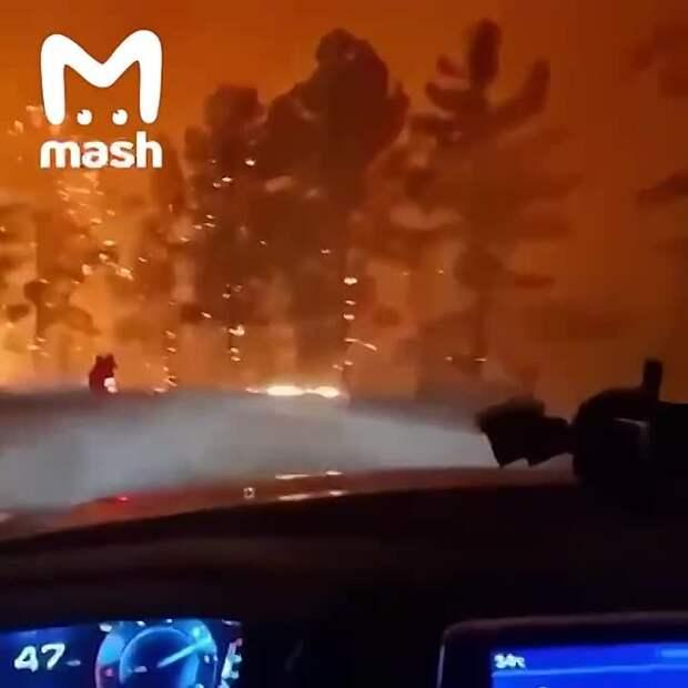 Это не сцена из фильма ужасов. Это турецкая трасса, наши дни. Из-за пожаров мир вокруг...