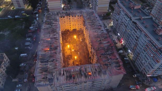 В Музыкальном микрорайоне Краснодара потушили пожар в восьмиэтажке