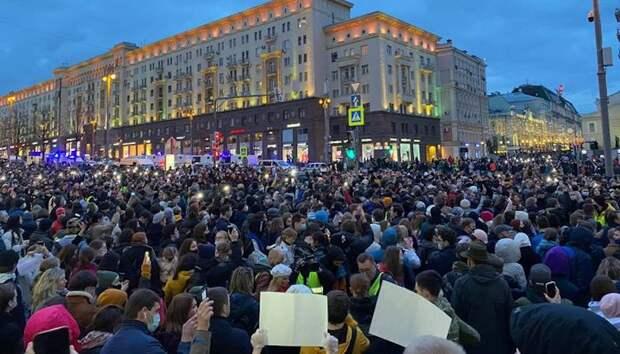 1,5 тыс. протестующих арестованы во время митингов в поддержку Навального в России