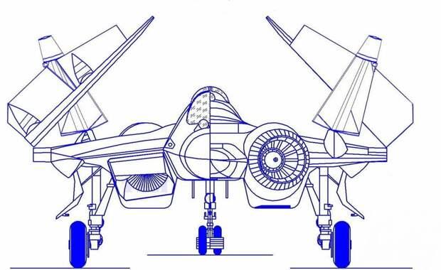 Рис. 2 Примерно так может выглядеть будущий Су-57К