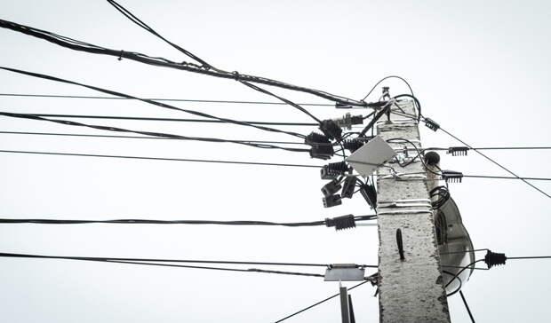 Дерево упало налинию электропередач наТагилстрое вНижнем Тагиле