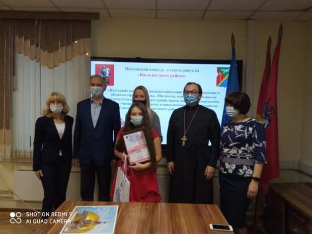 Ученица школы имени Маресьева победила в московском конкурсе рисунка