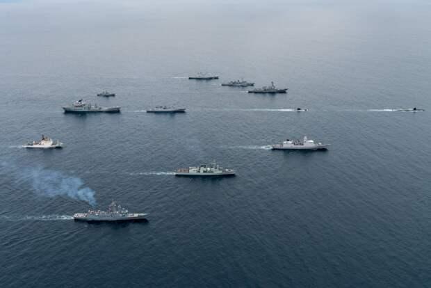 Маневры ВМФ России. Источник изображения: https://ianed.ru
