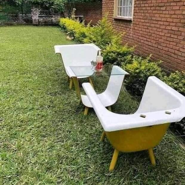 Оригинальное использование старой ванны