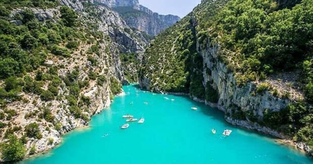 1. Вердонский каньон (Gorges du Verdon), Прованс, Франция красивые места, места, мир, путешествия, рейтинг, страны, туризм, фото
