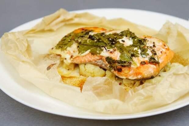 Красная рыба в духовке с цветной капустой – быстрый и очень вкусный рецепт 2