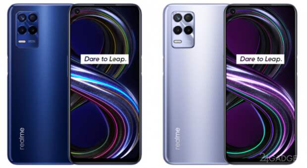 Смартфоны Realme 8s и Realme 8i: как они выглядят