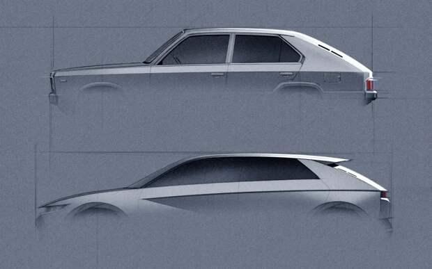 Hyundai 45 Concept: электромобиль будущего в стиле ретро