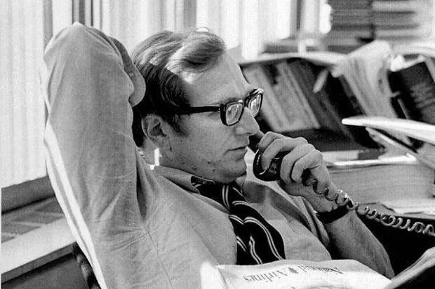 Херш в редакции «Нью-Йорк таймс». 1970-е гг.