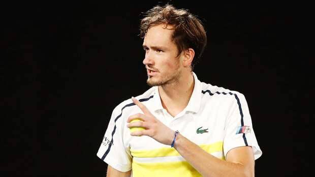 Медведев остался на 3-м месте в рейтинге ATP