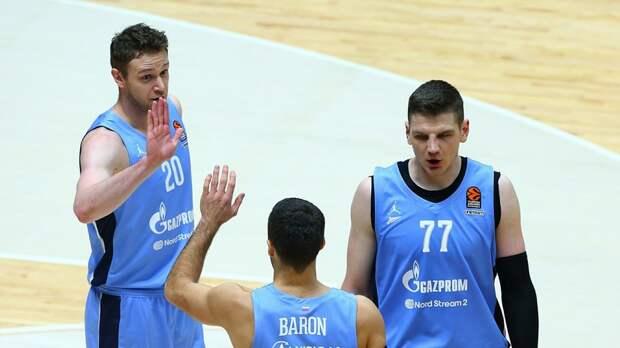 «Зенит» одержал третью победу подряд в баскетбольной Евролиге